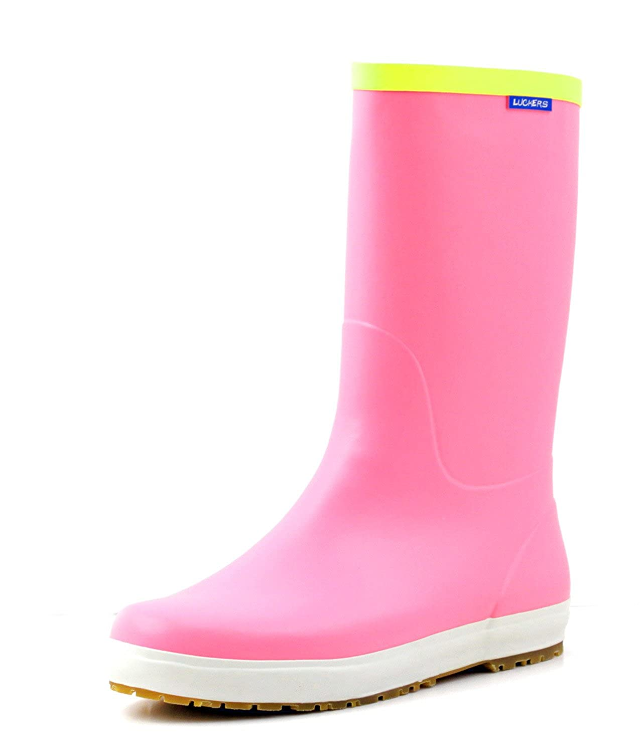 Luckers Women's Pink Foldable Wellies Rain Boots