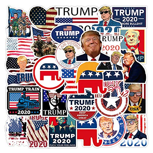 🥇 Trump Stickers and Decals 2020 | 50 PCS | Vinyl Waterproof Stickers for Laptop