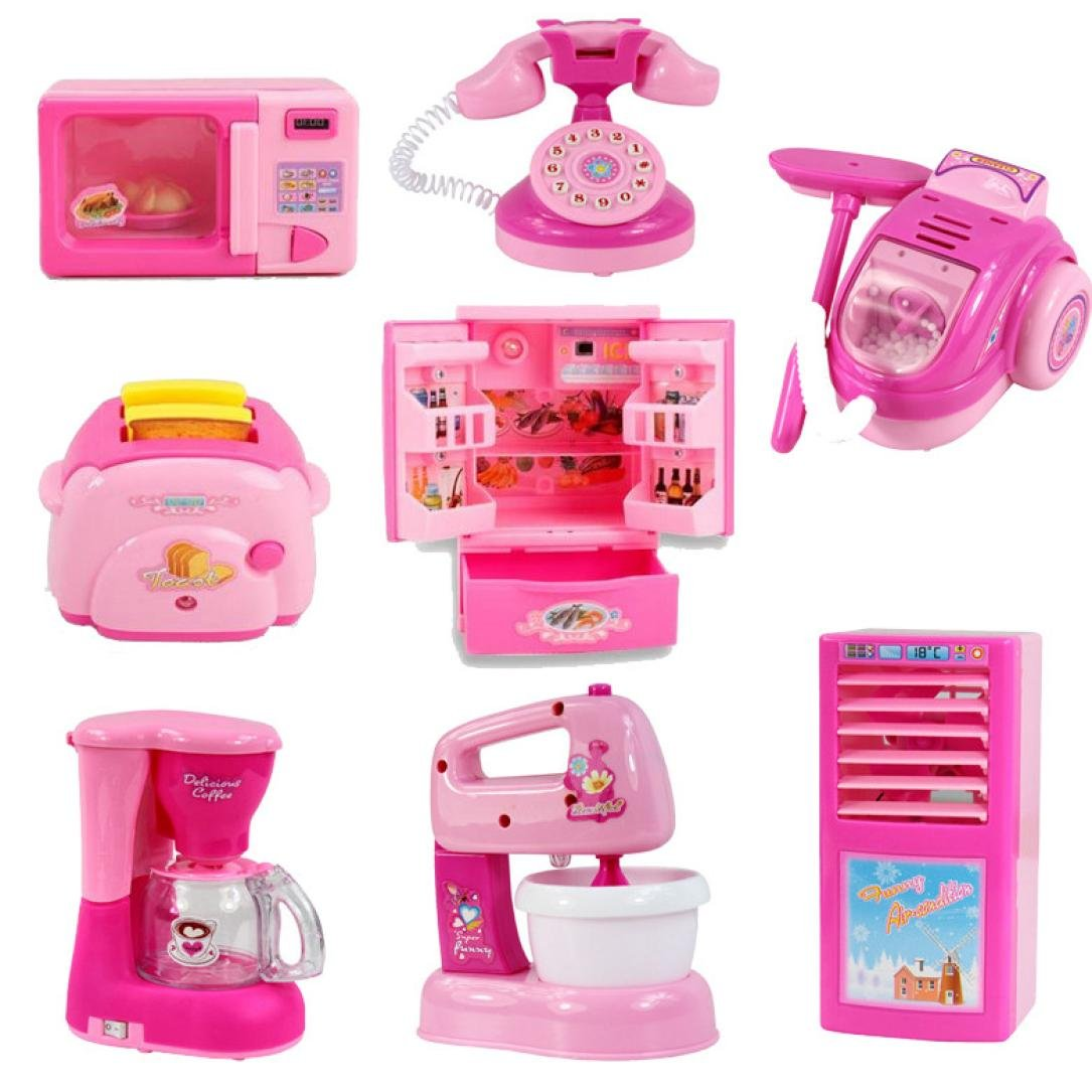 A ADESHOP Home Appliances Kitchen Toy Kid Educational Toy mini Kitchen Accessories Toy Pretend Toys