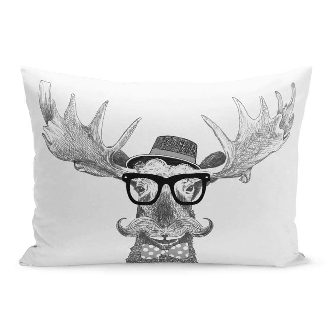 Amazon.com: Semtomn Throw Pillow Covers Hipster Glasses on ...