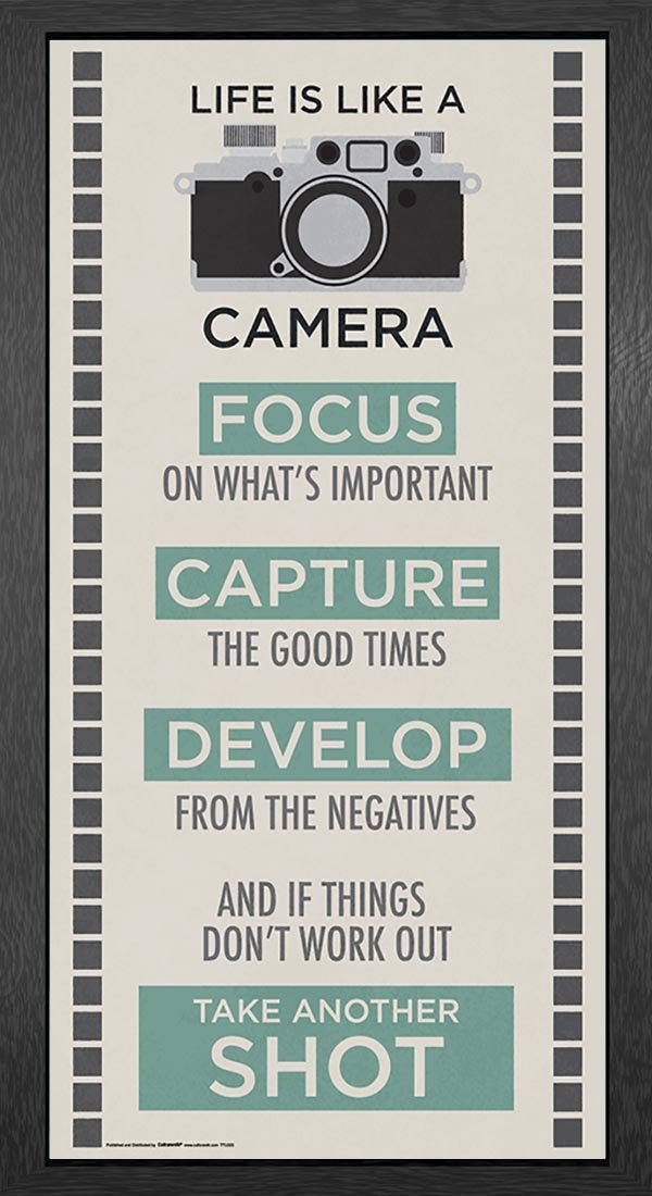 Amazon.com: Life Is A Camera Inspirational Motivational Photography Quote  Print (Unframed 12x24 Poster): Posters U0026 Prints