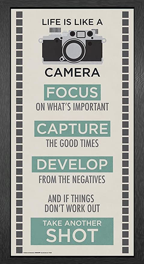 Amazon Culturenik Life Is A Camera Inspirational Motivational Fascinating Life Quote Poster