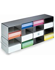 Heathrow Scientific HD2862HA Standard Upright Freezer Horizontal Rack with 12 Shelves for 53 mm Box Height, Steel, Metallic