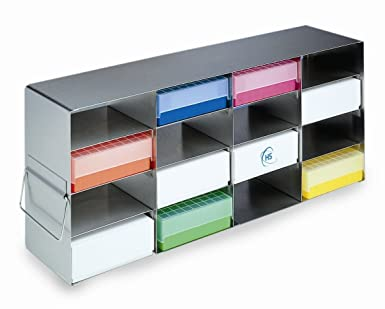 Heathrow Scientific HD2862K - Soporte horizontal para congelador (con 12 estanterías para cajas de 75