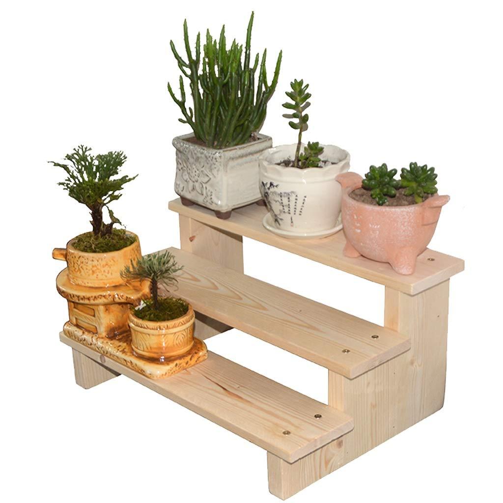 植物収納ラック 二重層の木の花の立場、植物の表示棚の梯子鍋の棚の収納ラックの陳列台 - 屋内および屋外の使用 (Size : 40cm) B07SVLR7MT  40cm