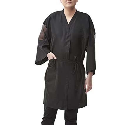 Colorfulife Salon cliente albornoz bata albornoz Kimono Mono de peluquería cape vestido belleza Spa peluquería toalla