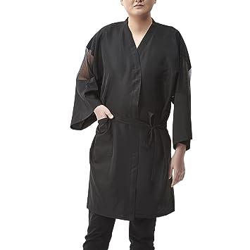 Colorfulife Salon cliente albornoz bata albornoz Kimono Mono de peluquería cape vestido belleza Spa peluquería toalla ropa night-gown Wrap con Red Funda: ...