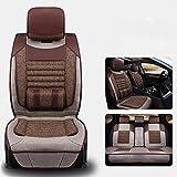 CAR 5 Seats Car Seat Cover Cushions,Universal Front Rear Car Seat Cushion Cover , brown