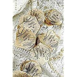 Silk Rose Petals Beige Wedding Decorations Petals Artificial Petals Happily Ever After 100