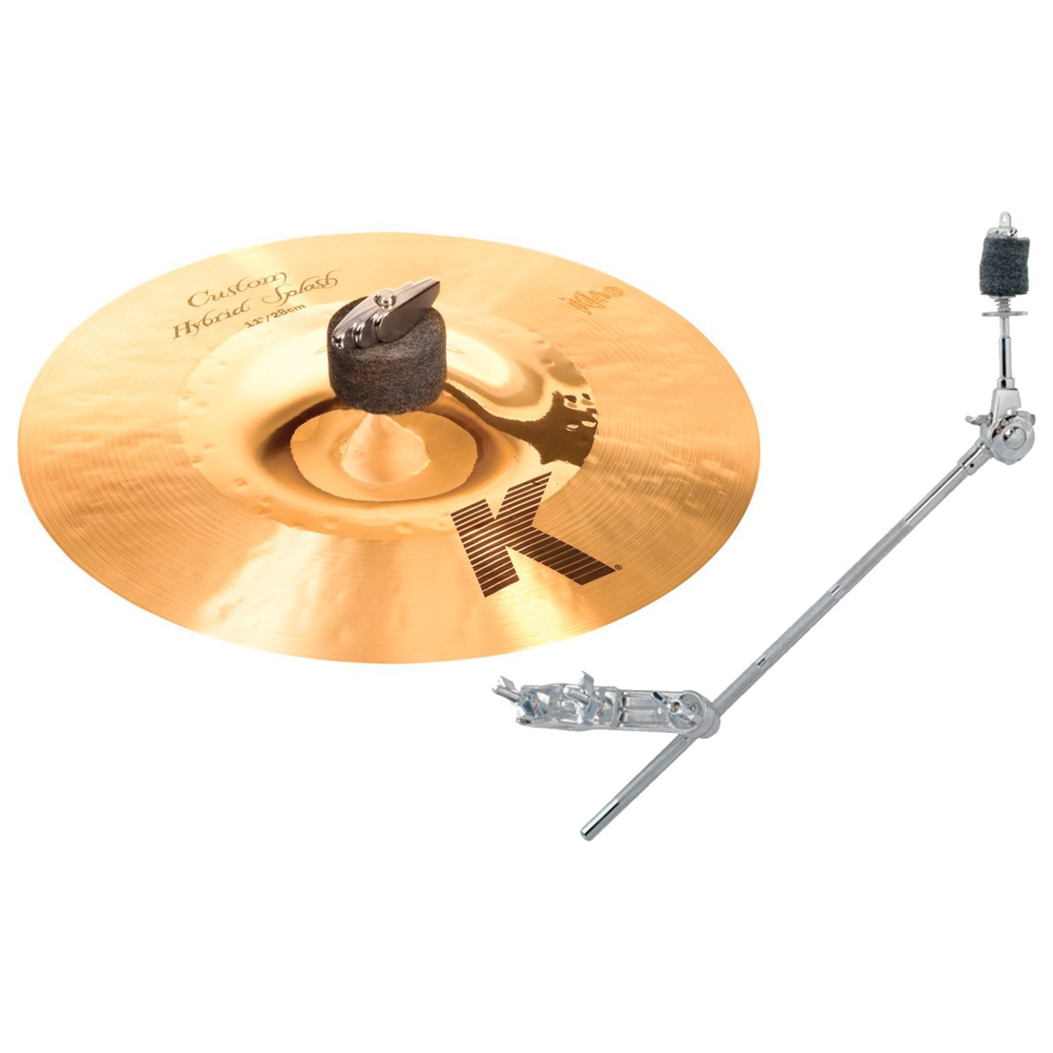 Zildjian K1211 11in K CUSTOM HYBRID SPLASH with Gibraltar GCA 18 in Grabber Cymbal Arm