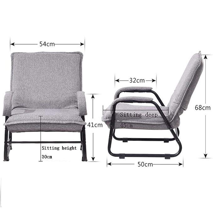 Amazon.com: GJM Shop - Silla plegable para sofá, color gris ...
