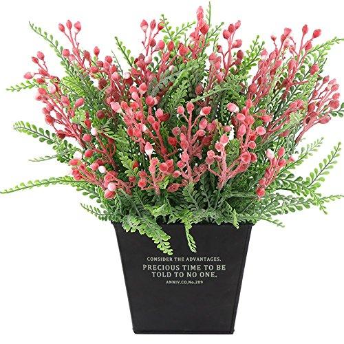 bjlongyi 1 Bouquet Artificial Flower Fake Berries Wedding Easter Home Shop Decoration - Purple -