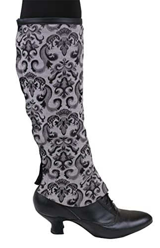 Retro Boots, Granny Boots, 70s Boots Womens Reversible Faux Leather Gaiters $54.95 AT vintagedancer.com