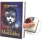 FITT Real Paper Book Locking Booksafe with Key Lock Dictionary Secret Hidden Safe (Les Miserables)