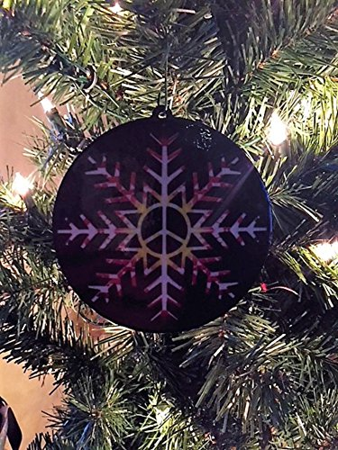Peace Snow (Peace Sign Snowflake Christmas Ornament)