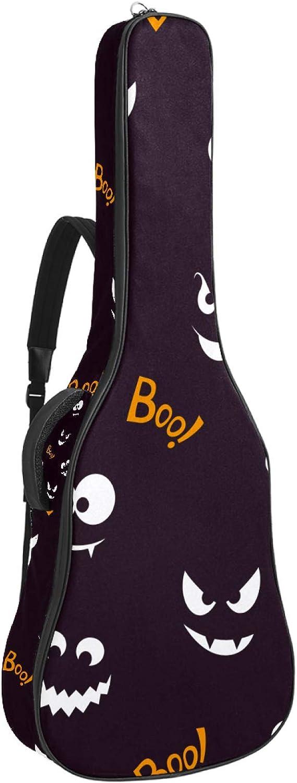 Bolsa de guitarra impermeable con cremallera suave para guitarra, bajo acústico y clásico folk guitarra eléctrica bolsa extraño gato