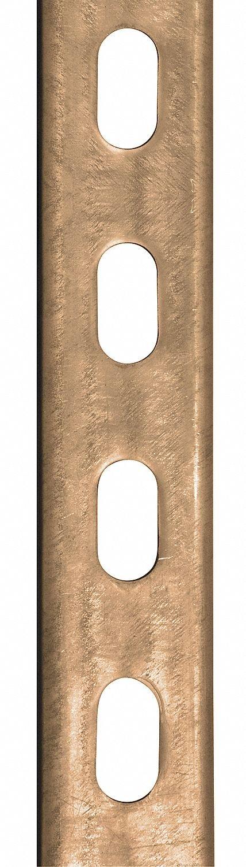 12 ga R Steel 20 ft. Half Slotted Standard 1-1//2 x 1-1//2 Strut Channel Gold Galv-Krom
