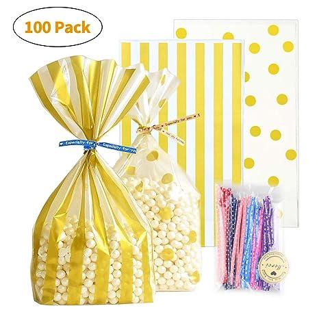 Amazon.com: Bolsas de regalo de oro, bolsas de regalo para ...