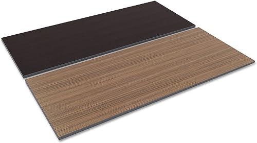 Alera TT7230EW Reversible Laminate Table Top, Rectangular, 71 1 2w X 29 1 2d, Espresso Walnut