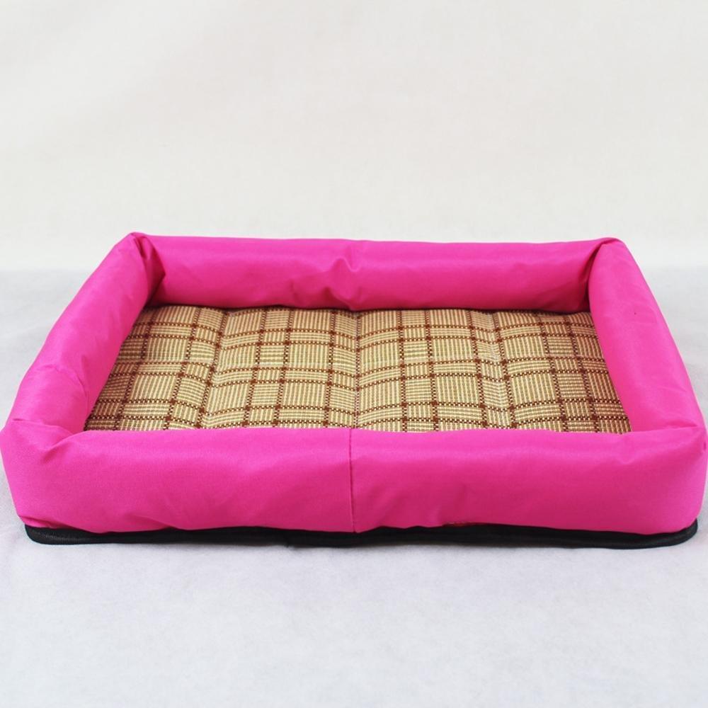 B Medium B Medium Weiwei Summer Square Pet Nest Mat Mat Cushion Dog House Teddy Small Medium Size Dog Bed
