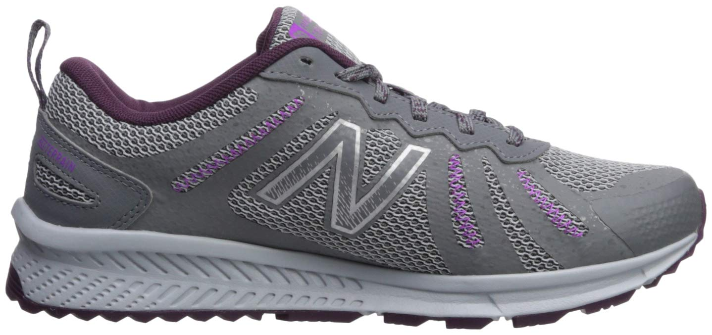 New Balance Women's 590v4 FuelCore Trail Running Shoe, Gunmetal/Dark Current/Voltage Violet, 5 B US by New Balance (Image #6)