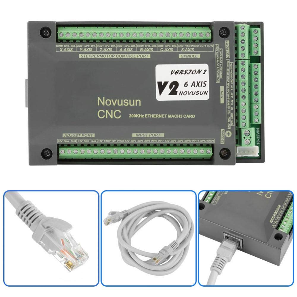 Hilitand MACH3 Motion Control Card NVEM CNC Controller 6 Axis MACH3 Ethernet Interface Motion Control Card Board for CNC Engraving by Hilitand (Image #3)