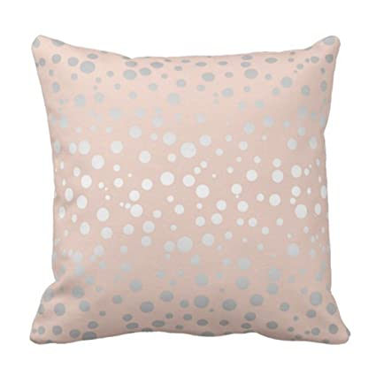 Amazon Emvency Throw Pillow Cover Rose Gold Polka Dots Id40 Best Rose Gold Decorative Pillows