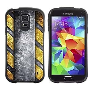 Suave TPU GEL Carcasa Funda Silicona Blando Estuche Caso de protección (para) Samsung Galaxy S5 / CECELL Phone case / / Interior Design Structure Yellow Grey Art Wall /