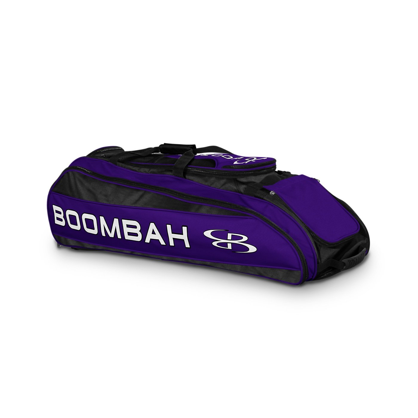 Boombah Beast Baseball/Softball Bat Bag - 40'' x 14'' x 13'' - Black/Purple - Holds 8 Bats, Glove & Shoe Compartments by Boombah (Image #1)