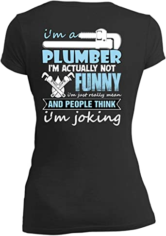 /'This is What an Awesome Plumber Looks Like/' Plumbing Funny T-shirt Tee