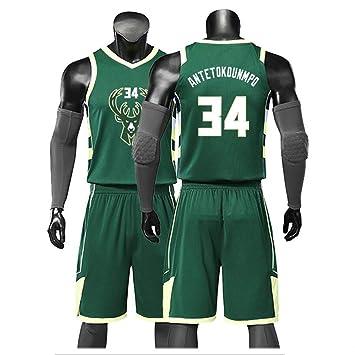 Milwaukee Bucks 34 Camisetas De Baloncesto,Giannis Antetokounmpo ...