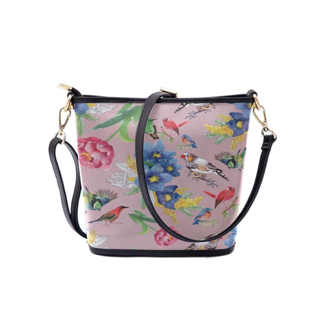 Shoulder Bag Crossbody Bag Colorful Flowers And Birds Multi-functional Wristlet Zipper Pocket Small Wristlet Bags For Men Fashion Mens Fashion Crossbody Bag Men Messenger Shoulder Bag