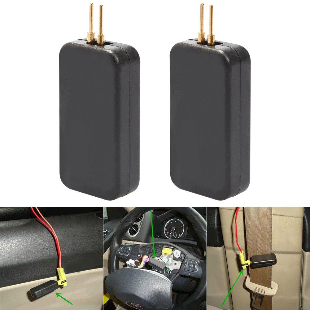 PerGrate Taux de feuillets 2 morceaux voiture airbag Simulateur é mulateur Ré sistance Bypass Dé pannage le diagnostic Black inspection Tool