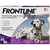 #7: Frontline Plus Flea and Tick Control for Dogs and Puppies 8 weeks or older, 45 to 88 lbs, 3-Doses