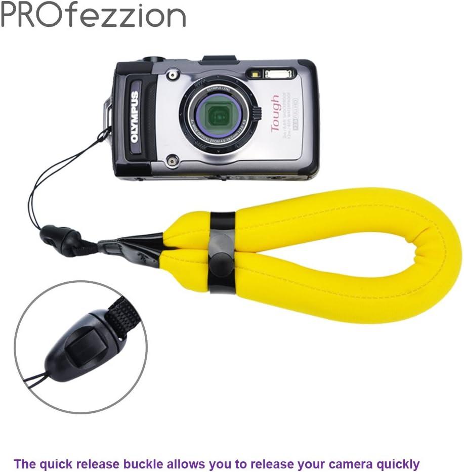 JJC ST-8O Org espuma flotante Correa para Cámara Impermeable Canon Olympus Nikon etc.