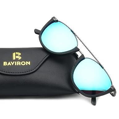 754728a2edafb BAVIRON Similar Wood Grain Glasses Men Handmade Retro Sun Glasses Women  Plate Polarized Sunglasses(C10