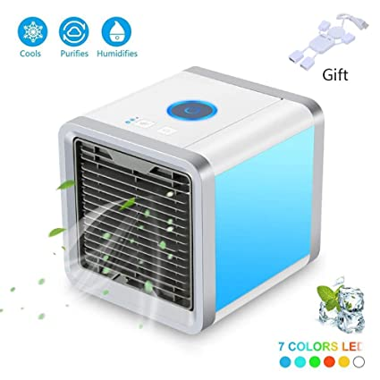 Home & Kitchen KKCITE Portable Air Cooler,3 in 1 Air Cooler,Humidifier,Purifier,Mini Air Conditioner Fan Noiseless evaporative Cooler Mobile Air Conditioner,Touch control 3 Speed Fan for home office car outdoor