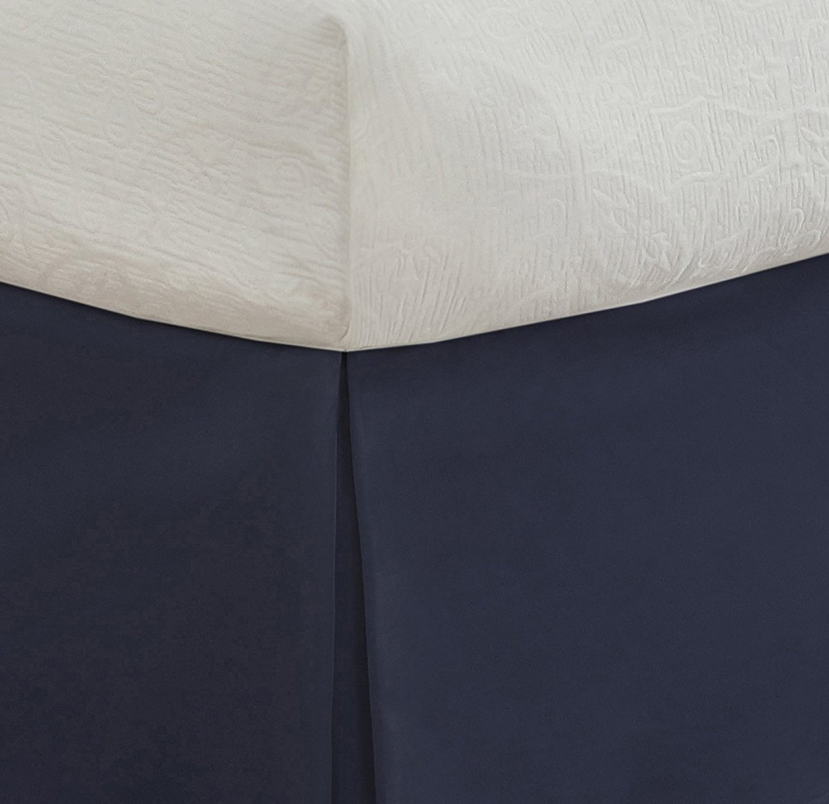 """Pleated Styling Twin XL Lux Hotel Bedding Tailored Bedskirt Pink Classic 14/"""" drop length"""