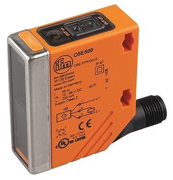 Ifm - O5E500 - 47mm Selectable Light On/Dark On Rectangular Photoelectric Sensor Receiver; Sensing Method: Through: Electronic Component Photoelectric ...