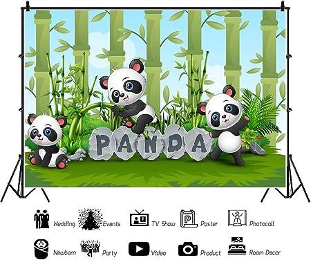 10x12 FT Photo Backdrops,Panda Bear Sleeping on Cloud in Starry Night Sky Children Cartoon Print Background for Kid Baby Boy Girl Artistic Portrait Photo Shoot Studio Props Video Drape Vinyl