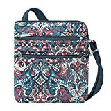 Travelon Women's Anti-Theft Boho Slim Bag Travel Purse, Summer Paisley, One Size