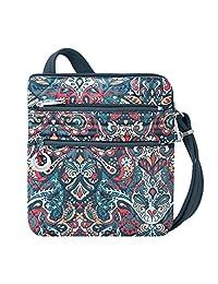 Travelon 33225 32X Anti-Theft Boho Slim Bag, Summer Paisley, One Size