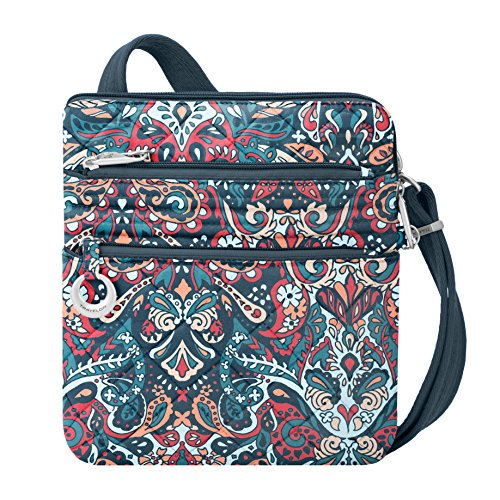 Travelon Women's Anti-Theft Boho Slim Bag Travel Purse, Summer Paisley, One Size For Sale