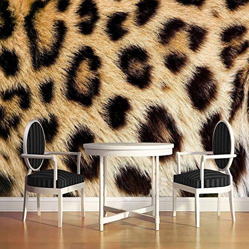 (LWCX Personalized Customization Leopard Print Mural 3D Wallpaper Restaurant Clubs Ktv Bar Fashion Decor 180x130CM)
