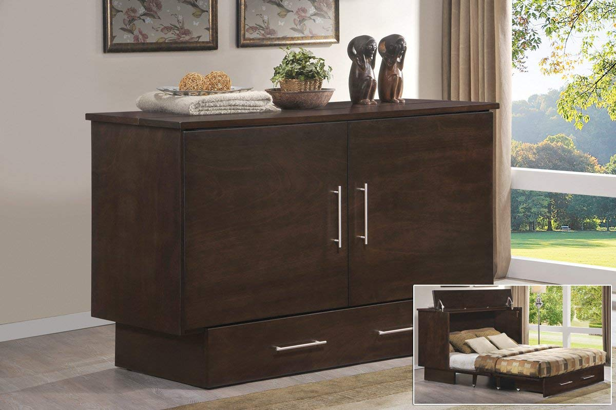 Arason Enterprises Creden-ZzZ Cabinet Bed in Original Coffee-Queen Size - Queen Size by Arason Enterprises