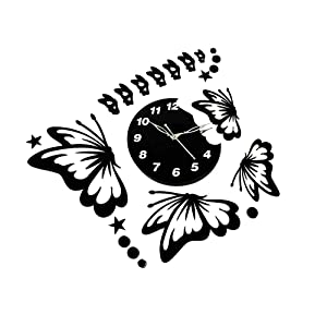BH Wood Gallery Acrylic Wall Clock, Size - 22x18 inches