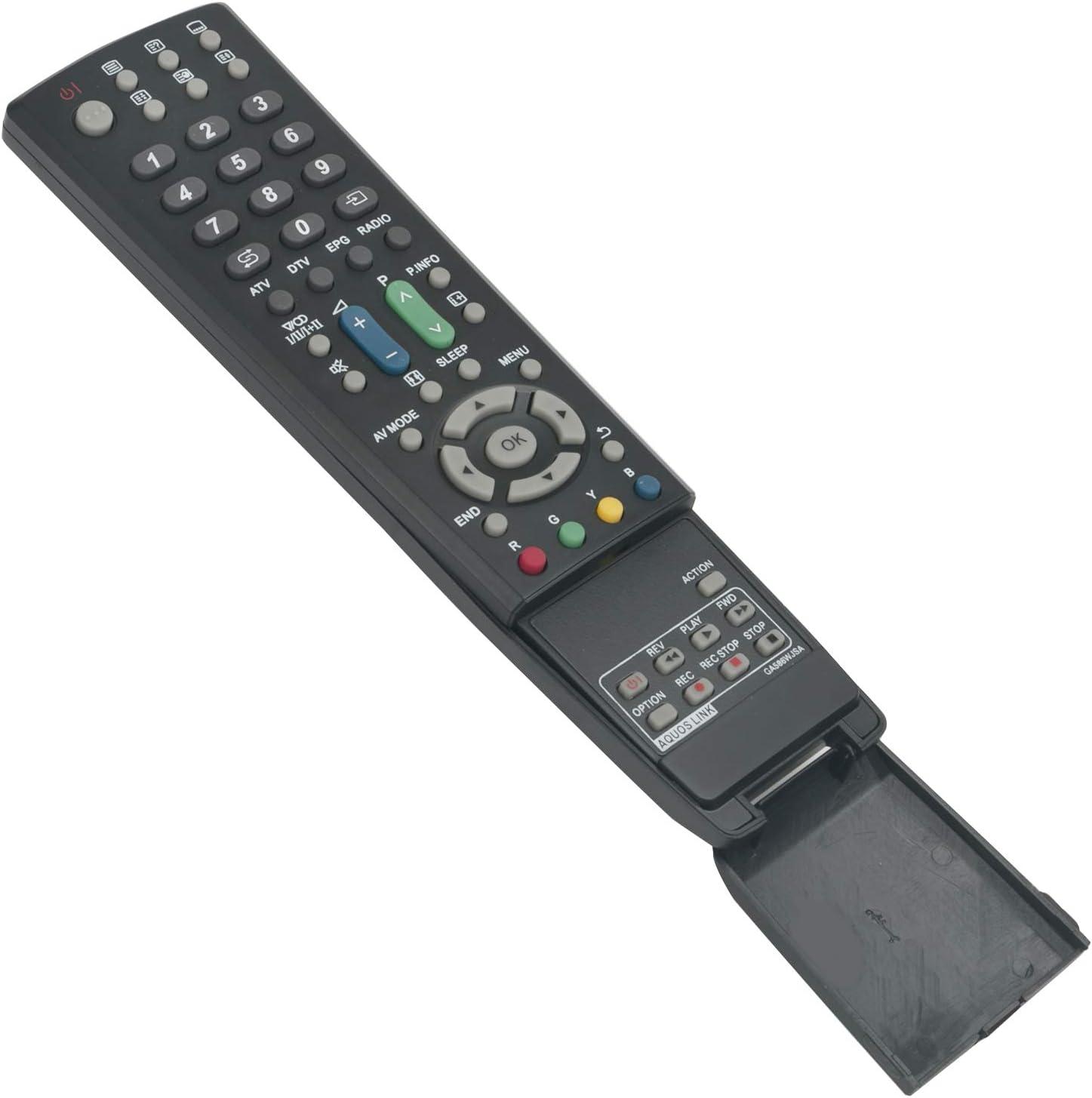 ALLIMITY GA586WJSA Control Remoto reemplazado por Sharp LCD AQUOS TV LC-32D653E LC-32D65E LC-32DH66E LC-32DH77E LC-32LE700E LC-32LE705E LC-32LX705E LC-32X20E LC-37D653E LC-37D65E LC-42X20E: Amazon.es: Electrónica