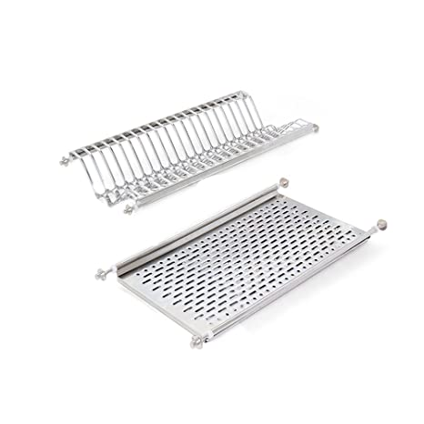 Emuca - Escurridor de platos y vasos de acero inoxidable para muebles de cocina de ancho 60 cm