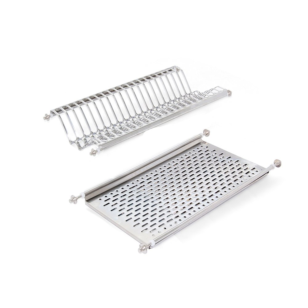 Emuca 8929765 Stainless steel dish drying rack for standard 60cm-widht kitchen cabinet