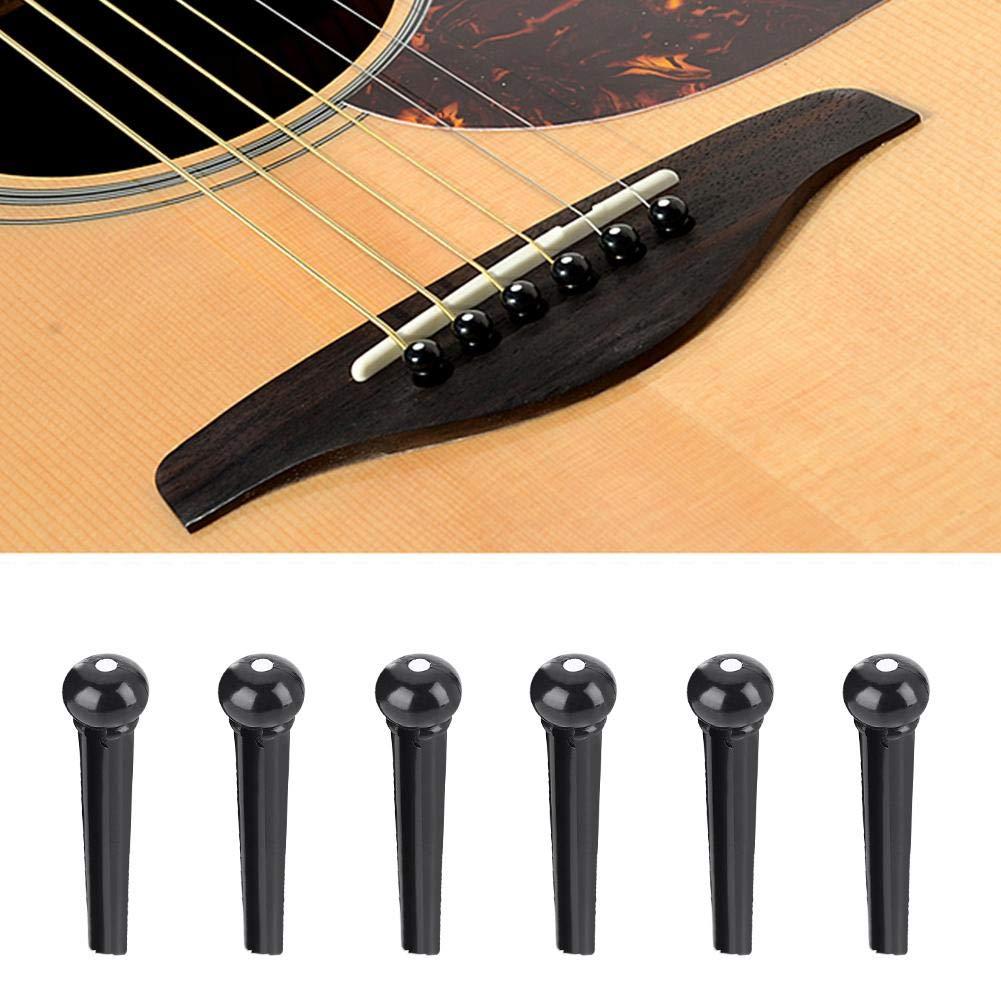 Blanco o Negro Fafeims Clavos de Guitarra 6 Piezas Puente de Guitarra clavado Cuerda de pl/ástico Cono Clavo Accesorio de Pieza de Instrumento Musical